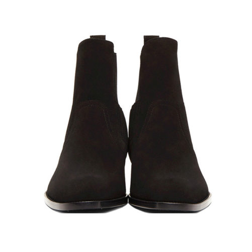 picture of the front of a pair of kanye west style chelsea boots