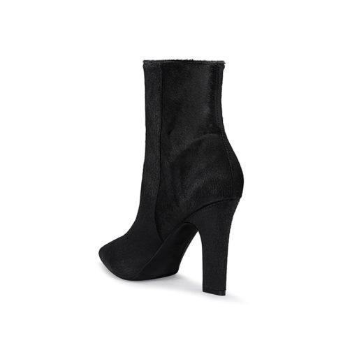 picture of a sexy high heel leather ankle boot from the back so you can see the high heel