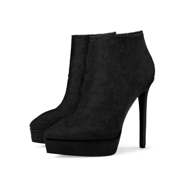 picture of sexy high heel autumn ankle boots that are leather
