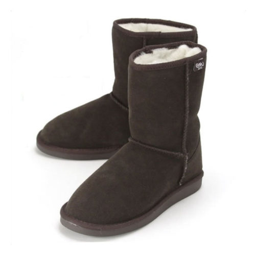 australian inner wool winter boots that are chocolate colored