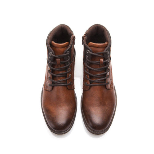picture of the top of our vintage style mens casual boot