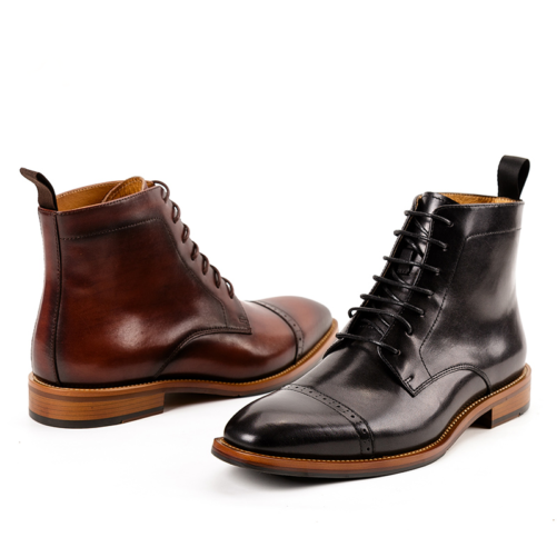 both black and brown british style dress fashion boots