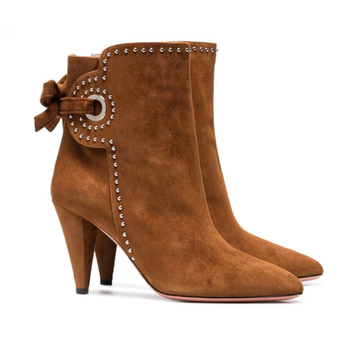 chunky heel western classy ankle boots with elegant look