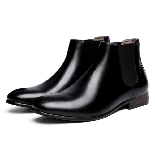 Leather Fashion Chelsea Boots black