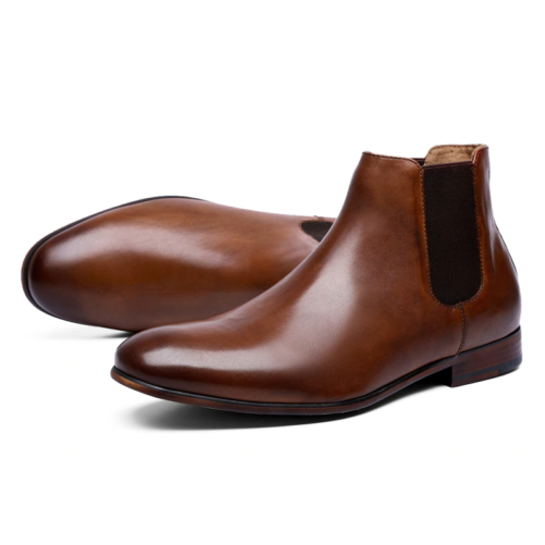 Leather Fashion Chelsea Boots brown