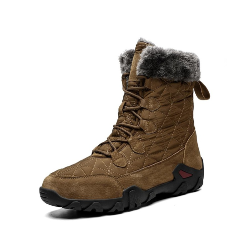 winter fur fashion snow boots in brown